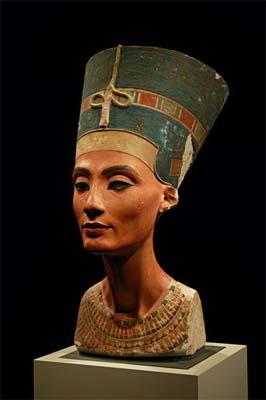 El Busto de Nefertiti en el Museo Egipcio de Berlin