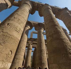 Foto panoramica del Templo de Karnak