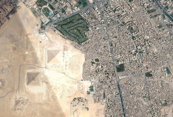 piramides de Giza via satelite