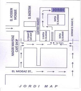 Plano para ir a la Tienda de Jordi en El Cairo
